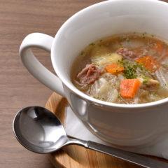 熟成肉と野菜のスープ